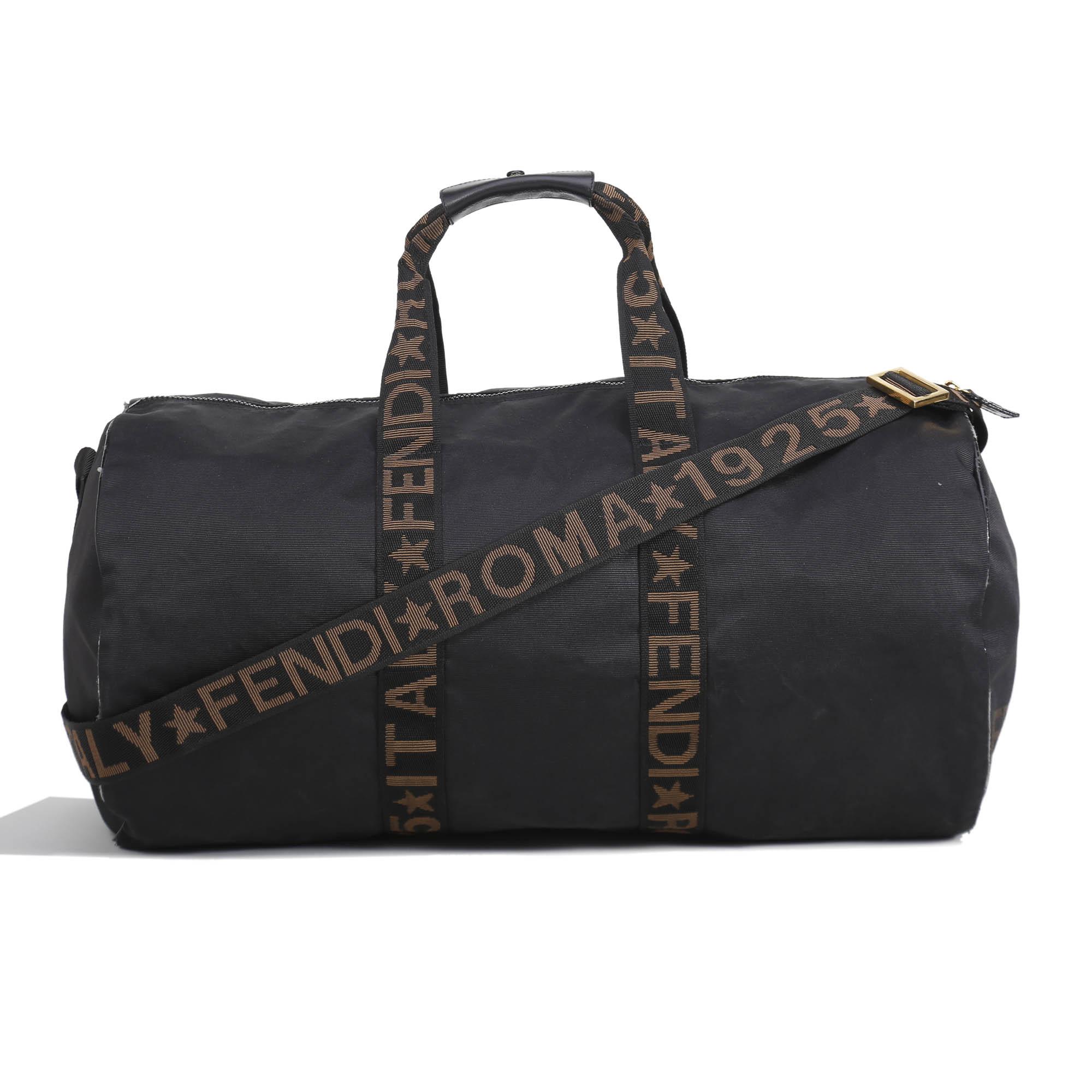 ab389050bc order travel bags bags fendi a2450 9e4de  official store fendi black nylon  carry on travel bag 239ea 8849b