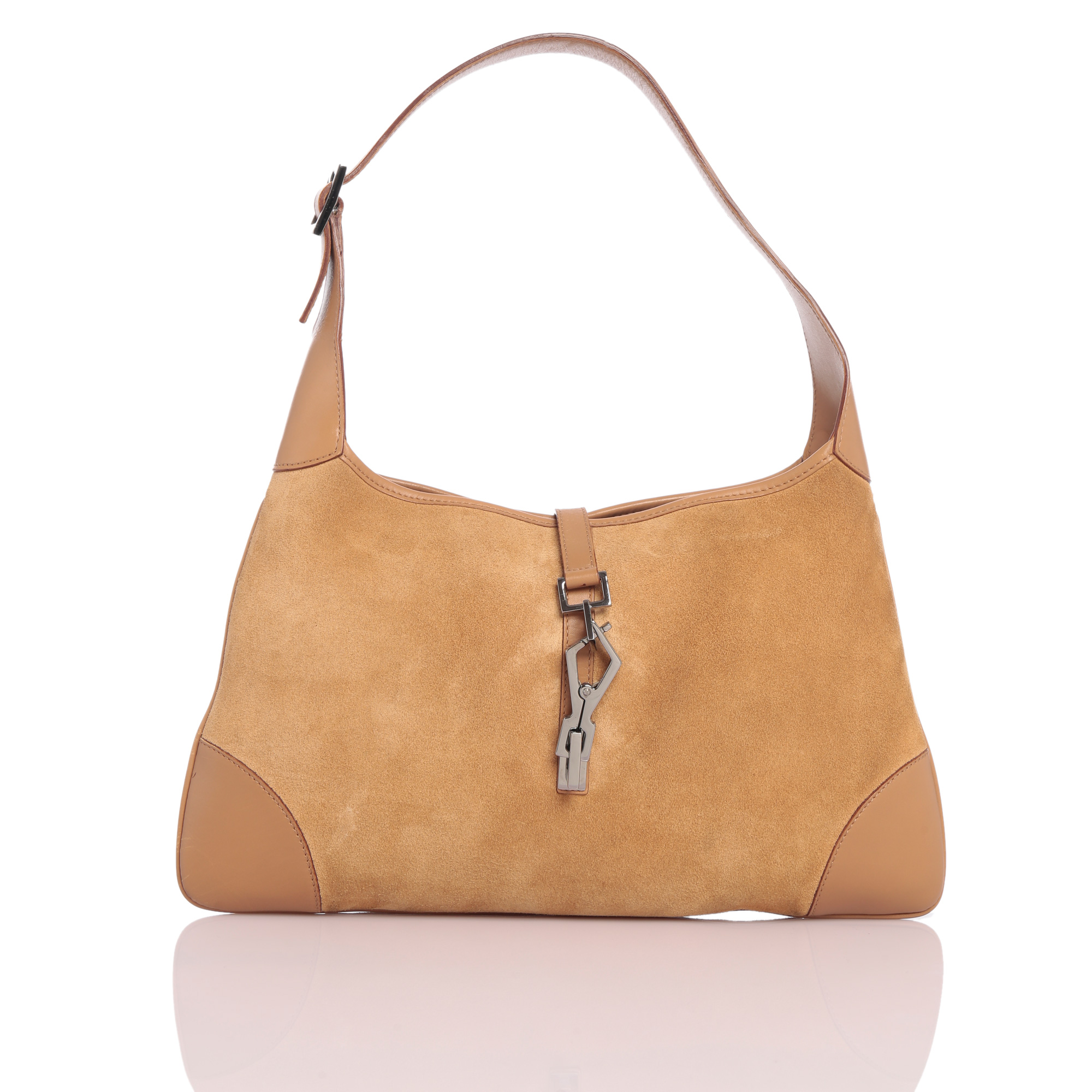 Gucci Online India My Luxury Bargain Beige Leather Suede Hobo Bag