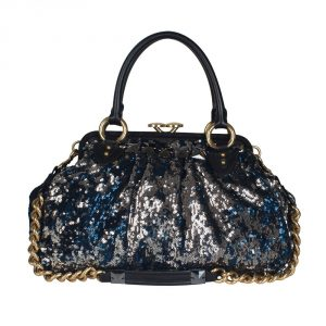 Authentic Luxury Celebrity Fashion Online India My Luxury Bargain MARC JACOBS NEW YORK ROCKER SEQUIN STAM BAG
