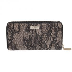 Buy Valentino online india My Luxury Bargain VALENTINO BLACK LACE NYLON FUSED WALLET