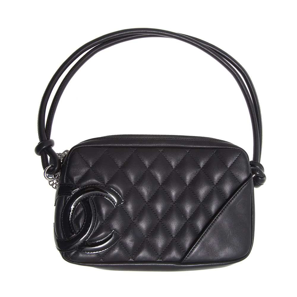 5e7a7cffcb Shop Authentic Chanel Online In India My Luxury Bargain CHANEL BLACK QUILTED  LEATHER CAMBON BOWLER BAG