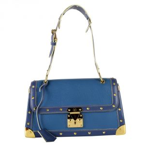 Buy Louis Vuitton bags Online India My Luxury Bargain Louis Vuitton Blue Suhali Leather Le Talentueux Handbag