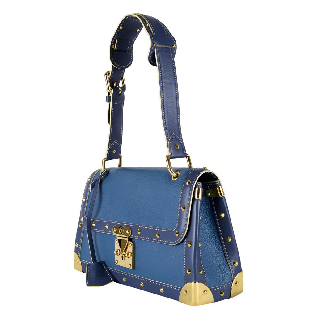 Louis Vuitton Blue Suhali Leather Le Talentueux Handbag