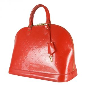 Shop Louis Vuitton Handbags Online India My Luxury Bargain Louis Vuitton Orange Monogram Vernis Alma GM Bag