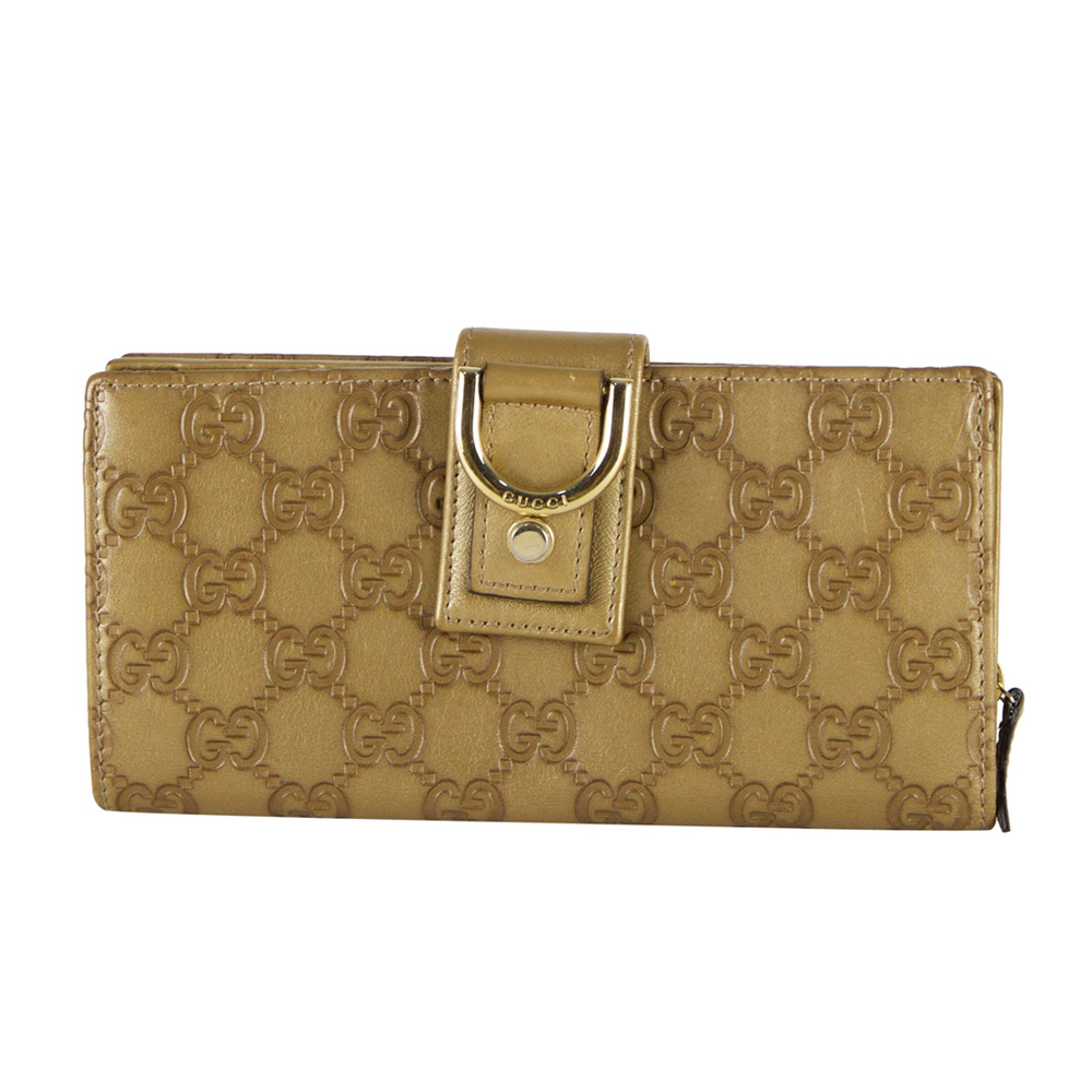 d16381bc5546 GUCCI GUCCISSIMA GOLD LEAHTER D RING WALLET