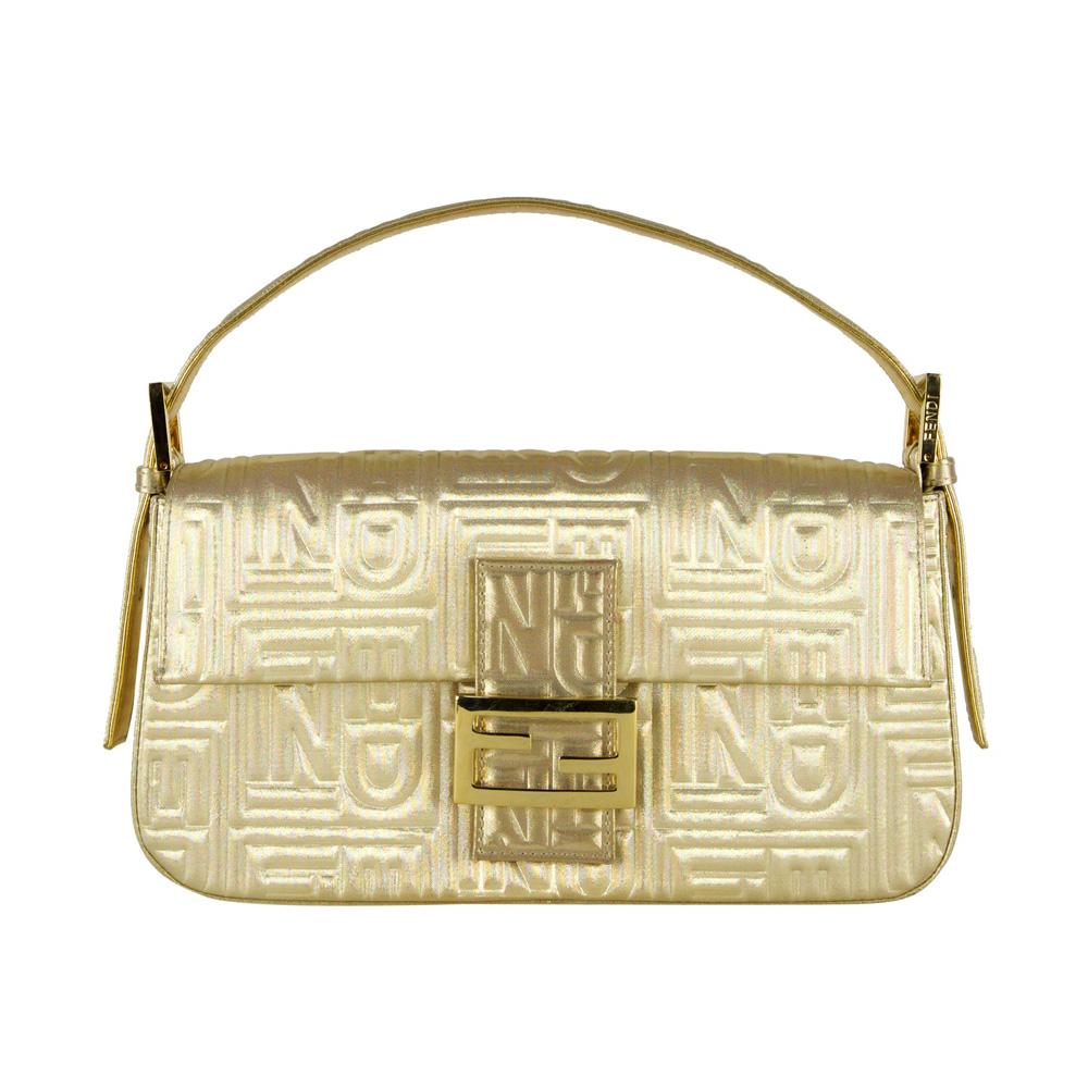 fb912b9118c0 ... bags shop 7f8a6 2ec9f  reduced fendi gold metallic embossed baguette  7b311 ce7a7