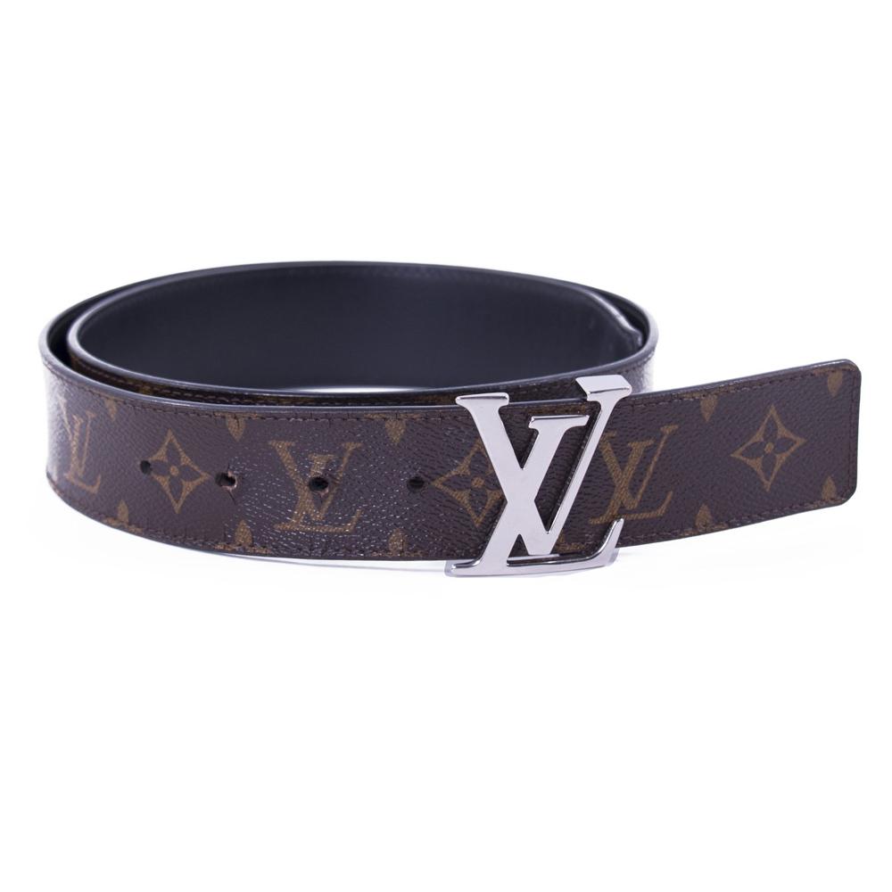 Louis Vuitton Monogram Leather Reversible Initial Belt 90cm