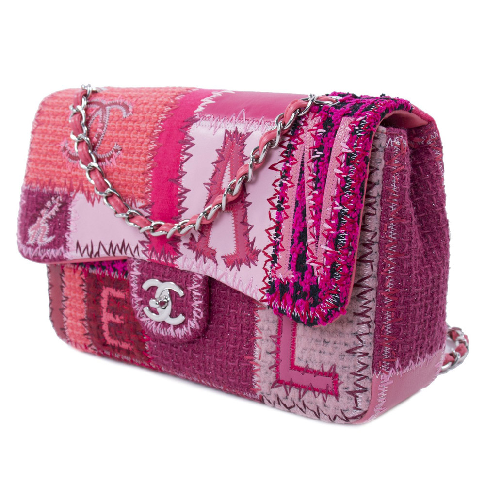 e782bef42065 CHANEL MULTICOLOR PATCHWORK JUMBO CLASSIC FLAP BAG