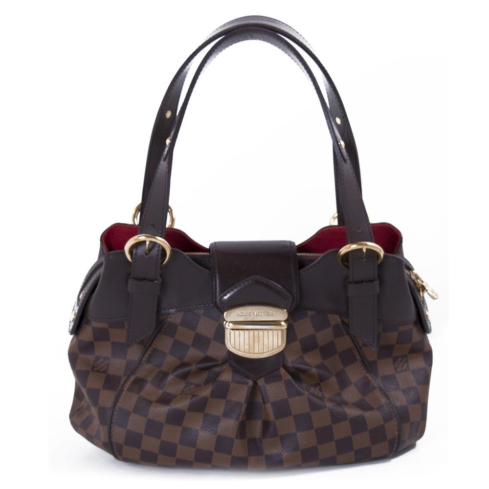 Louis Vuitton Damier Ebene Canvas Sistina Pm Handbag