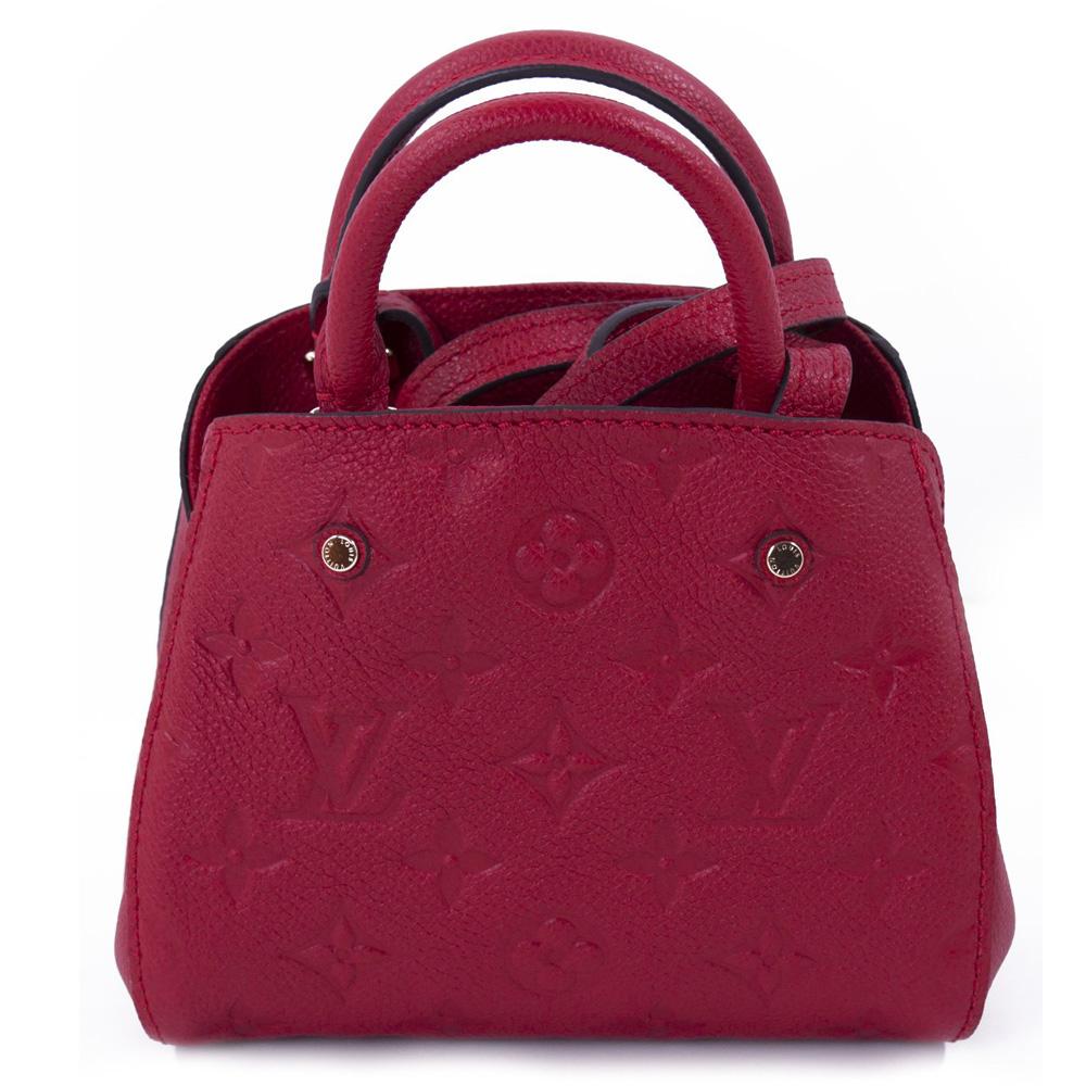Louis Vuitton Red Nano Montaigne Handbag