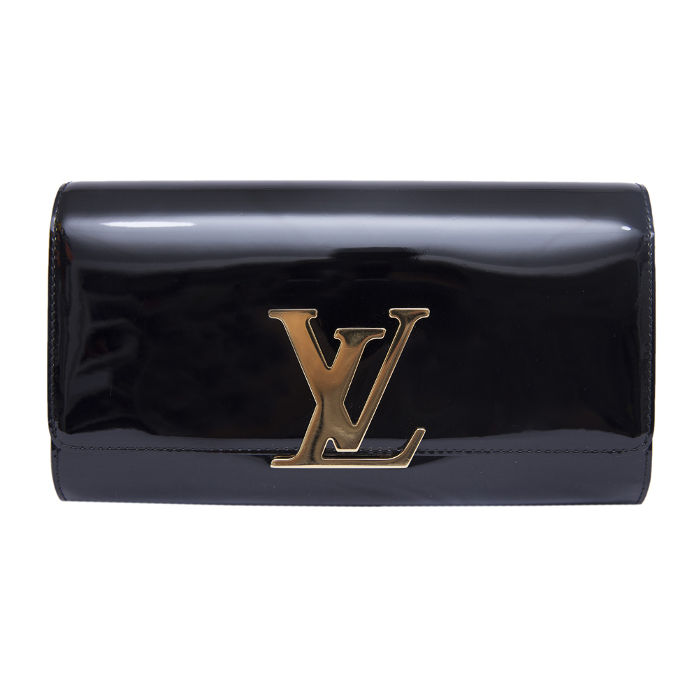 0da6f60f59a0 LOUIS VUITTON BLACK LOUISE EVENING CLUTCH