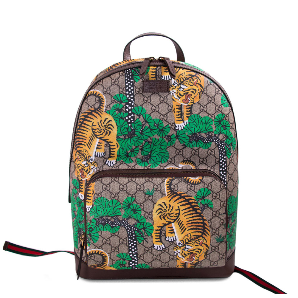 GUCCI BENGAL TIGER GG SUPREME BACKPACK ecd1c5e03c942