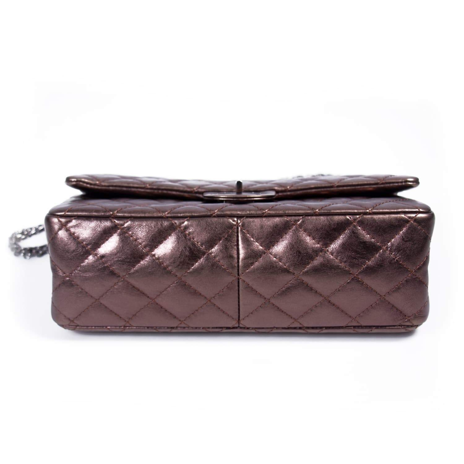 6ccf369ad26e64 Chanel Bronze Quilted Leather Reissue 2.55 Classic 226 Flap Bag