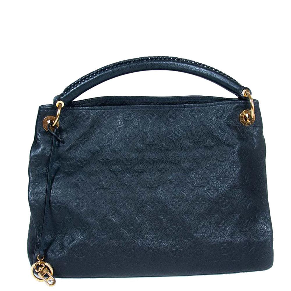 Louis Vuitton Navy Blue Monogram Empreinte Leather Artsy Mm Bag Pre Owned Designer Bags Fashion Accessories In Turkey